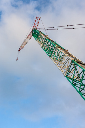 Very tall and huge crane Stock Photo