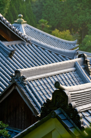A lot of tiled roofs appear