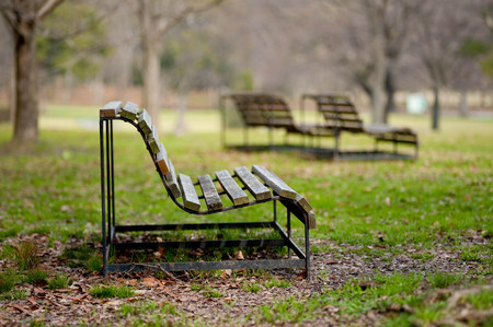 A bench where you want to sit down at the Expo Park Banco de Imagens - 124936636