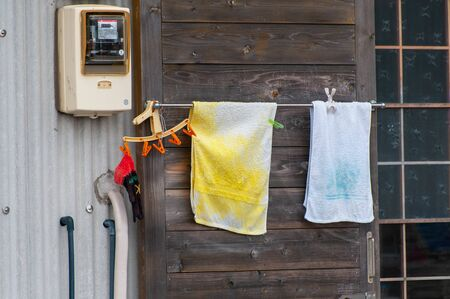 Towel which had been dried in fishing village of Awaji Island