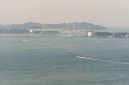A ship sailing the Seto Inland Sea in fine weather
