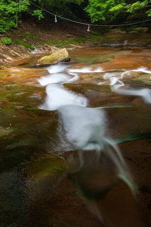 A gently flowing mountain stream