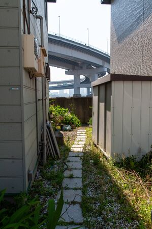 Clearance seen by a curved bridge 写真素材