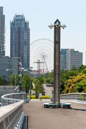 Tokyo cityscape with a Ferris wheel in the distance 写真素材