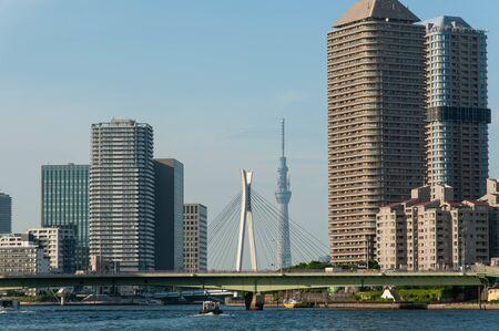 Tokyo Sky Tree seen from the gap between buildings 写真素材