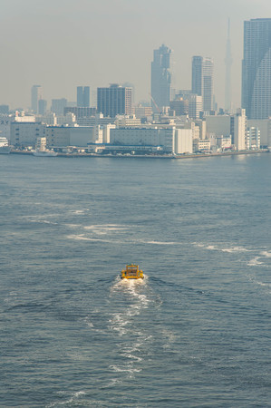 A ship sailing the Tokyo sea