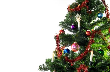 christmas tree with copyspace on the white background
