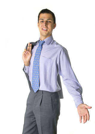 Business man with open arns Stock Photo - 284140