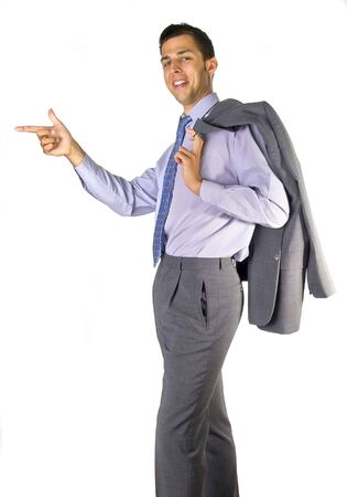 Business man showing the way Stock Photo - 284138