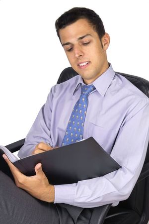 attractive young business man photo