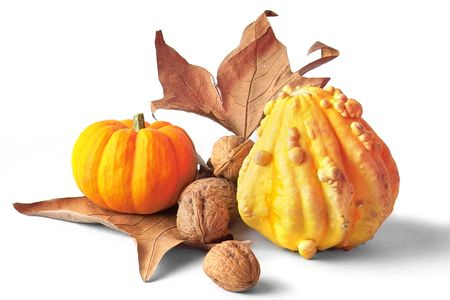 harvest cone cornucopia: autumn cornacopia decoration Stock Photo