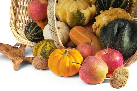 autumn cornacopia decoration Stock Photo