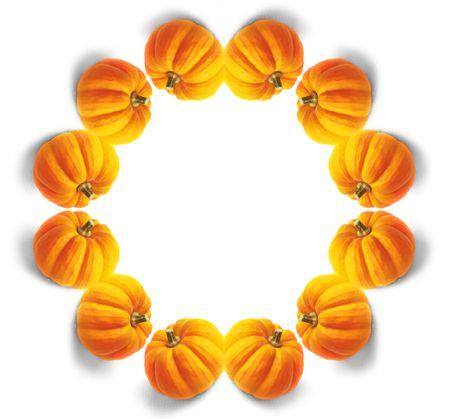 orange pumpkin mandala Stock Photo - 284015