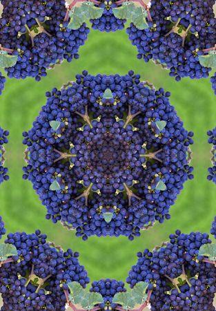 blue wine grapes mandala Stock Photo - 284012