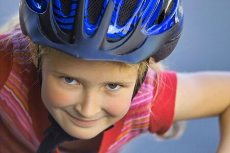 portrait of a girl riding the bike