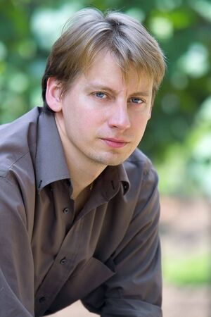 portrait of attractive young man Stock Photo