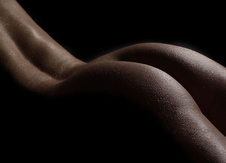 drops and curves of  the body lines