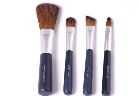 make up brushes: travelling set of four make up brushes with mirror