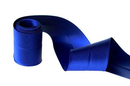 blue curly satin ribbon