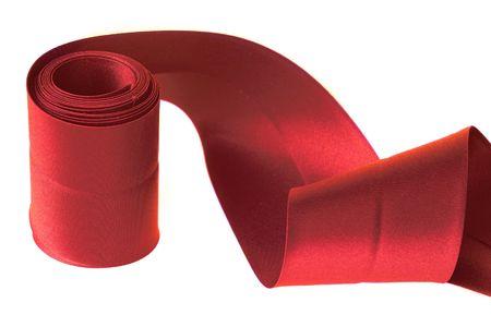 satin ribbon: red curly satin ribbon