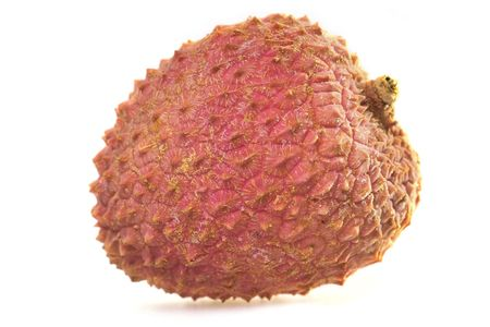 tasty litchi isolated on the white background