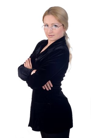 buisness woman: Business woman with glasses