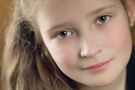 headshot of a smiling pretty girl