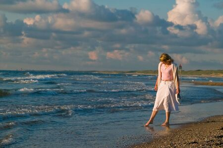 attractive blond girl at the seaside Stock Photo - 1328867