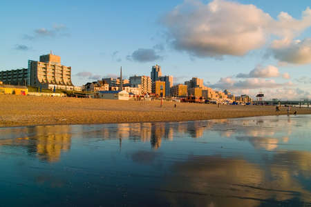 dutch seaside in scheveningen