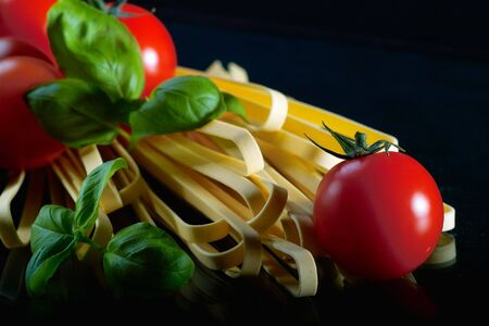 ingredients for tasty italian pasta