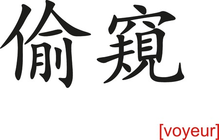 voyeur: Chinese calligraph as design templates, art elements or body jewellery.