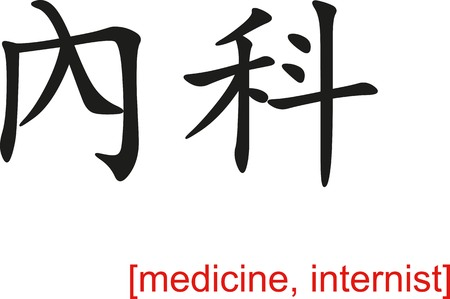 internist: Chinese calligraph as design templates, art elements or body jewellery.