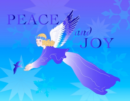 snowflake angel holiday vector