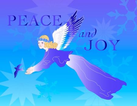 snowflake angel holiday vector