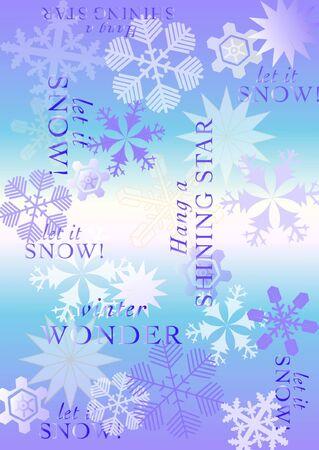 snowflake vector holiday pattern Illustration