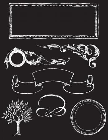 ensemble d'éléments de conception de vecteur - tableau noir Charkboard 1