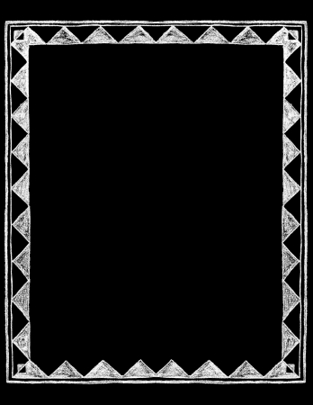 dingbats: Chalk Board vintage hand drawn rustic Border Frame Illustration