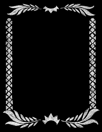 Chalk Board vintage hand drawn rustic Crown Frame Vector