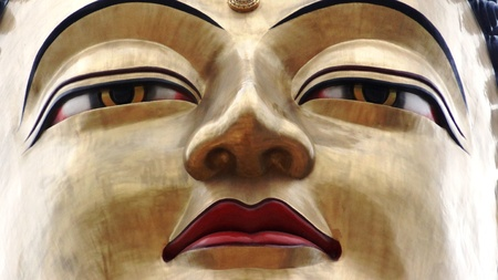 lord buddha: Lord Buddha with smile Stock Photo
