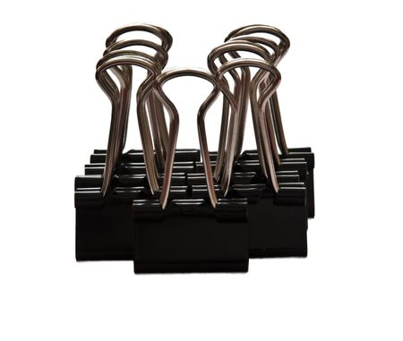 disorganize: binder clips Stock Photo