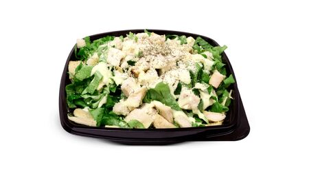 Fresh and delicious caesar salad with chicken lettuce and cheese