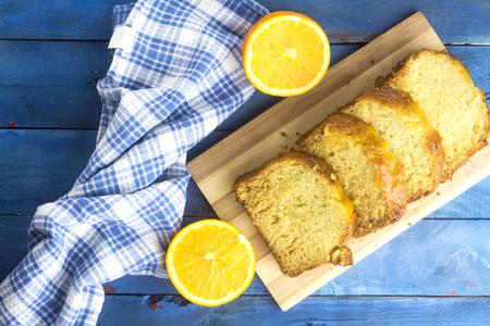arabic homemade pound orange sliced cake Stockfoto