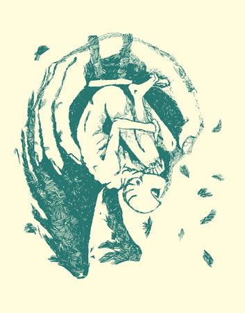 stools: Angel Illustration