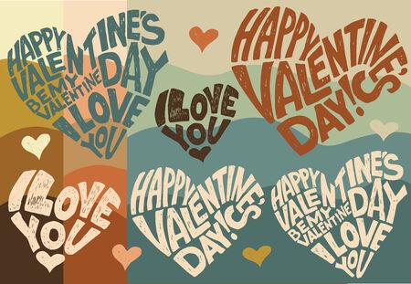 14: D�a de San Valent�n, 14 de febrero Vectores