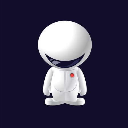 little smile astronaut Vector