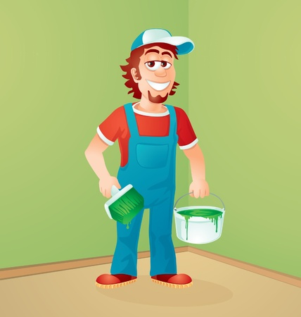 the house painter Vector