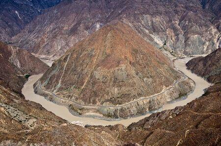 yangtze river: great bend of yangtze river Stock Photo