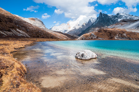 Milk Lake in Yading national level reserve, Daocheng, Sichuan Province, China. photo