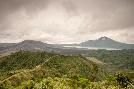 Landscape of Batur volcano in Bali , Indonesia photo