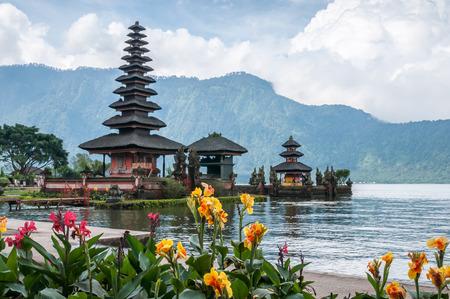 ulun: Pura Ulun Danu temple at Beratan lake  in Bali,Indonesia.